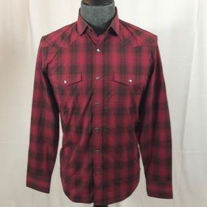 Red Plaid Banana Republic Cotton Casual Shirt